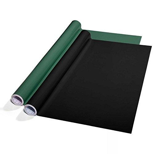 Tafelfolie Set selbstklebend | 60x300cm | zwei Farben wählbar (schwarz)