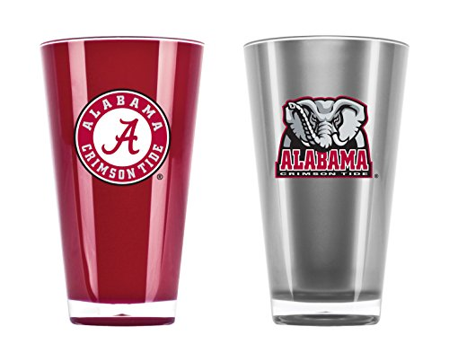 NCAA Alabama Crimson Tide 20oz Insulated Acrylic Tumbler Set of -