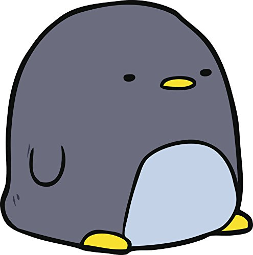 Simple Cute Kawaii Nursery Animal Cartoon - Penguin Vinyl Decal Sticker (4