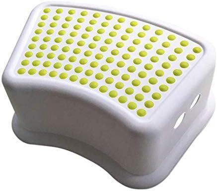 家庭用トイレ台座スツール子供の足滑り止めスツール和らげる便秘、膨満感 Green