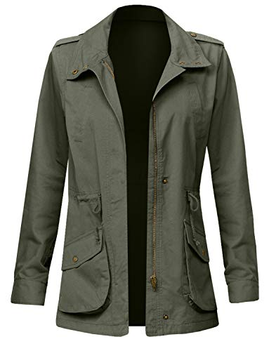 - J. LOVNY Women's Versatile Military Anorak Jacket in Various Styles S-3XL