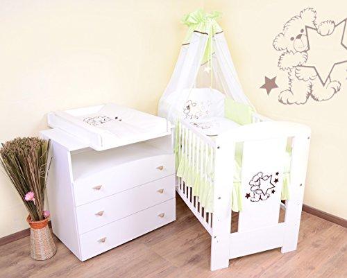 babyzimmer sparset incl babybett wickelkommode ausstattung komplettset bettmix. Black Bedroom Furniture Sets. Home Design Ideas