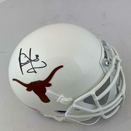 (Vince Young Signed Texas Longhorns Mini Football Helmet COA autograph - Tristar Productions Certified)