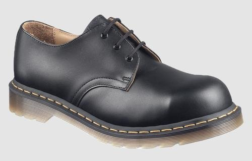 Dr. Martens Original 3 Eye Steel Toe Gibson,Black Fine Haircell,9 UK (US Men's 10 M/Women's 11 M) by Dr. Martens (Image #1)