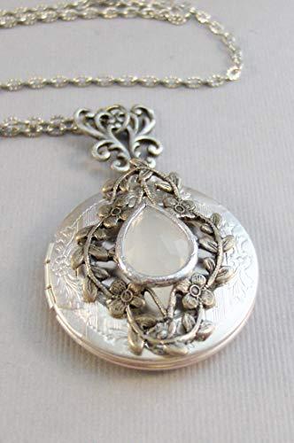- Vintage Moonstone,Oval Moonstone Necklace,Moonstone Jewelry,Vintage Style,Moonstone Locket,Moon Jewelry,Moonstone in handmade,Valleygirldesi