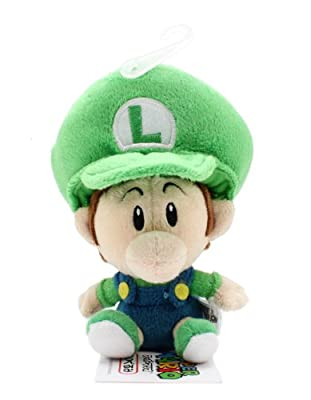 55 Official Sanei Baby Luigi Soft Stuffed Plush Super Mario Plush Series Plush Doll Japanese Import by Sanei