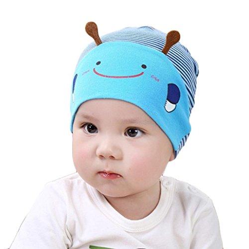 LtrottedJ Cute Kid Baby Boy Girl Toddler Infant Hat Bee Baseball Beret Cap Blue ()