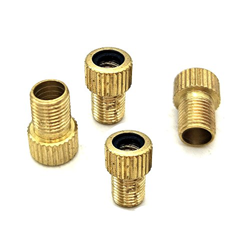 Bicycle valve adapter head, air nozzle change-over head, mountain car inflating special conversion joint Brass switch head (4pcs)