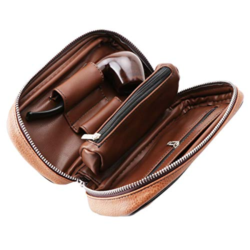 Scotte PU Leather tobacco Smoking Wood pipe pouch case/bag for 2 tobacco pipe and other accessories(Does not include pipes and accessories) by Scotte (Image #6)