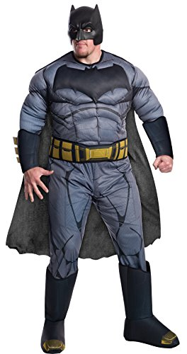 [UHC Men's Batman V Superman Dawn Of Justice Outfit Adult Halloween Costume, Plus (46-52)] (Plus Size Deluxe Superman Costumes)