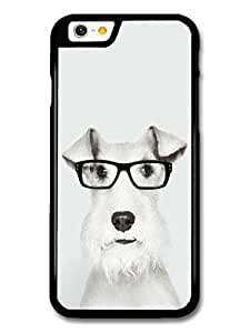 Funny Wire Fox Terrier With Glasses case for iPhone 6 A10425