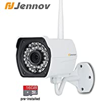 Jennov 720P Wifi Wireless Security IP Cameras Outdoor Waterproof With Built-in 16G MicroSD Card Day Night Vision Home Surveillance Cctv Bullet Network Camera