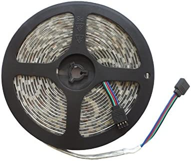 Tira de LED RGB de 14,4 Watt/M 440 lumens/M IP65 (resistente al agua) 12 V longitud 5 meter: Amazon.es: Iluminación