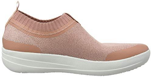 Donna Fitflop Collo a on Uberknit Metallic Slip Sneakers Pink Pink Alto Sneaker 612 Metallic Dusky TWxrzwTqB
