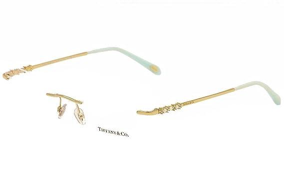 b38edc900f02 Tiffany Optical 0TF1110HB Rimless Cat Eye Woman Sunglasses - Size 53 (Gold    Clear Lens)  Amazon.co.uk  Clothing