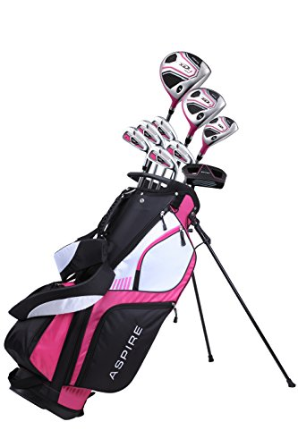 Premium Lightweight Ladies Golf Club Set Right Hand - Cherry Pink Purple, Standard, Petite, Tall, Clubs with Lady Flex