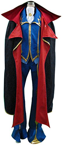 Mtxc Men's Code Geas Cosplay Costume Zero 2nd Size Medium Black