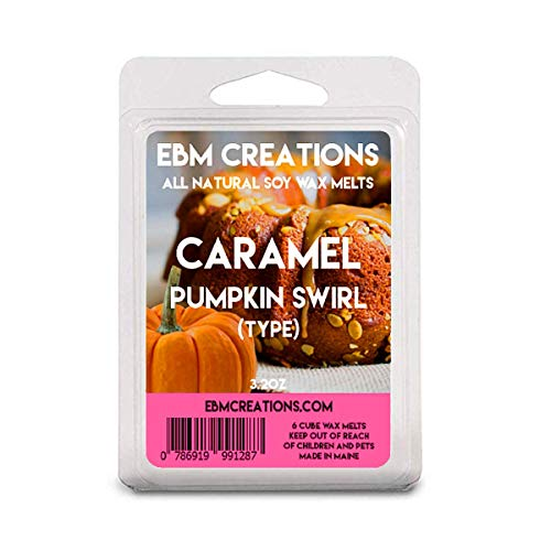 Caramel Brown Swirl - Caramel Pumpkin Swirl (Type) - Scented All Natural Soy Wax Melts - 6 Cube Clamshell 3.2oz Highly Scented!