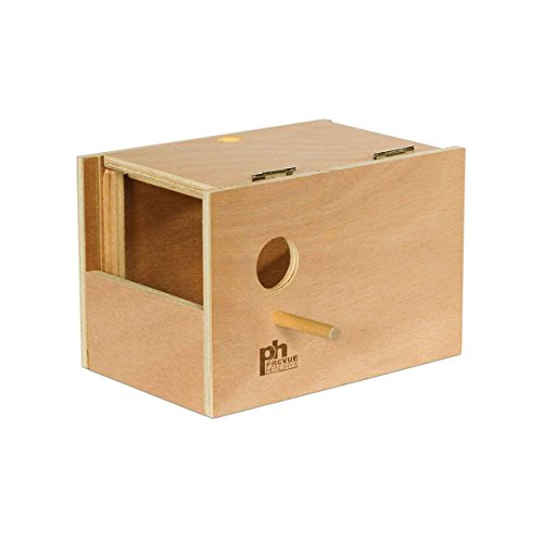Prevue-Hendryx Parakeet Nest Box Outside Mount (Medium, 8Inch L x 6Inch W x 6Inch H) (Prevue Nest)