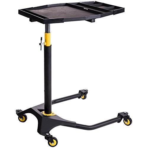 Adjustable Work Table Rolling Tool Tray with Wheels ()