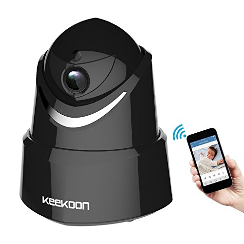 Keekoon 1080P Wireless/Wired IP Camera ,Baby Monitor with Two-Way Talk & Pan/Tilt & Night Vision (Black)