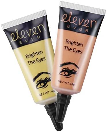 ELEVEN EVER Eye Concealer for Eye Bags, Dark Circles, Puffiness, Wrinkles Concealer Eye Cream, Two color, 0.4 oz X 2PCS