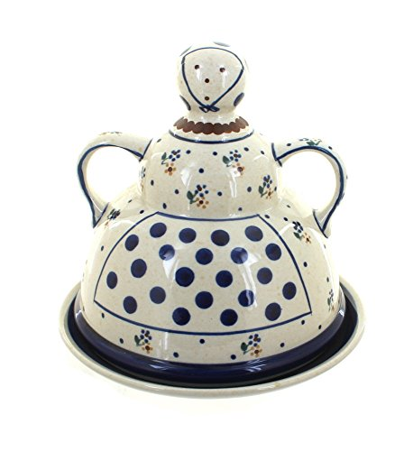 Polish Pottery Country Meadow Cheese Lady
