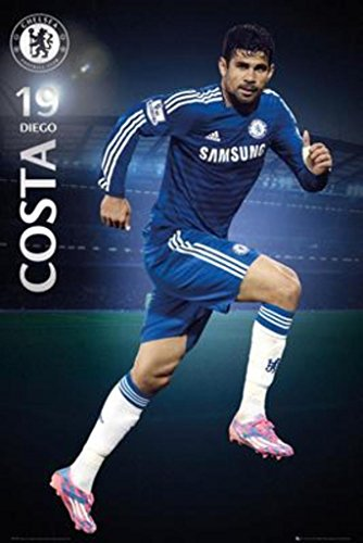 Diego Costa - Chelsea 2014-2015 24x36 Art Print Poster by SEI by SEI
