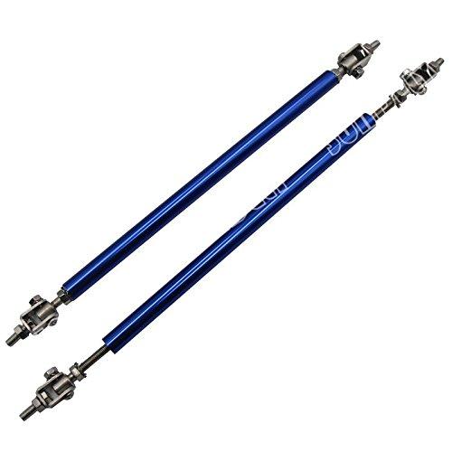 2 X SUNDELY Blue Color 9.7' to 13.2' (24.6cm~33.5cm) Adjustable Universal Front Bumper Lip Diffuser Splitter Support Bar Rod Strut