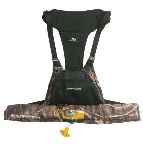 (Stearns Suspenders Manually Inflatable Sportsman's Chest Pack, Realtree Max-4)