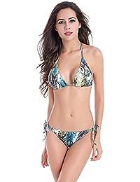 2447d69803de56 Miomi Monokini Swimsuits Two Pieces Bikini Sets Halter Bikinis (M-XL)