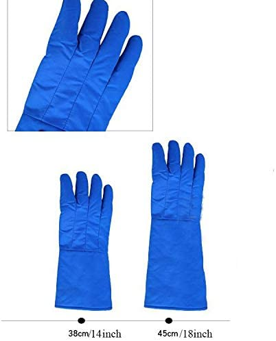 手袋 日常 実用 不凍液手袋肥厚した低温耐性液体窒素防風耐久性不凍液手袋 (Color : Blue, Size : L-38cm/15inch)