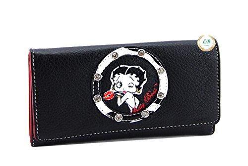 Betty Boop BQ1010 Long Wallet with Zebra Pattern