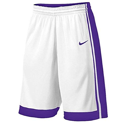 Varsity Stock Basketball Shorts (White/Purple, XX-Large) ()