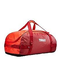 Thule Chasm 90L Bolsa de Lona Rojo Nylon, Elastómero termoplástico (TPE) - Bolsas de Lona (Rojo, 90 L, Nylon, Elastómero termoplástico (TPE), Monótono, Bolsillo de Malla, Bolsillo Lateral)