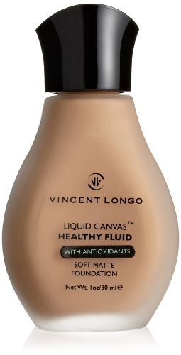 VINCENT LONGO Liquid Canvas Healthy Fluid Soft Matte Foundation, Golden Tan, 1 oz.