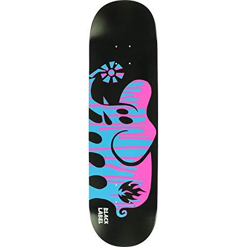 Black Label Deck - Black Label Skateboards Spill Proof Elephant Black/Blue/Pink Skateboard Deck - 8.5