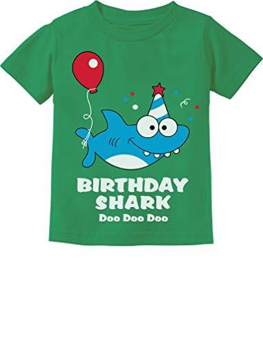 Baby Shark Doo doo doo First/2nd Birthday Shark Outfit Infant Kids T-Shirt 24M Green ()
