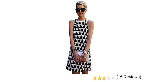 vovotrade Mujeres Playa de verano casual sin mangas Mini vestido de fiesta corto (tamaño M, negro): Amazon.es: Ropa y accesorios