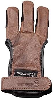 ArcheryMax Handmade Brown Leather Three Finger Archery Gloves