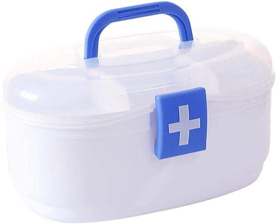 Gabinete de Cofre de Medicina portátil Multicapa Cuidado de la Salud Caja de botiquín de plástico de Primeros Auxilios Cajas de Almacenamiento Cajones Hogar, Azul: Amazon.es: Hogar