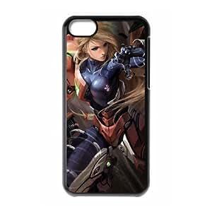 iPhone 5c Cell Phone Case Black Super Smash Bros Samus Aran OJ642572