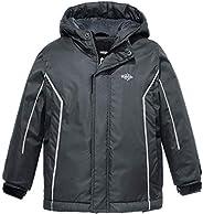 Wantdo Boy's Waterproof Ski Fleece Jacket Hooded Windbreaker with Str