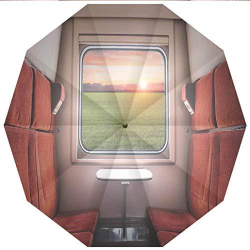 10 Ribs Travel Umbrella UV Protection Auto