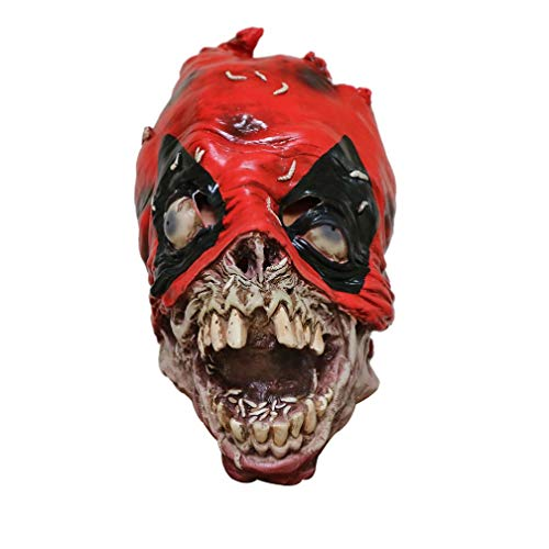 Quqoola Full Head Mask Scary Terror Zombies Mask, Melting Face Adult Latex Costume Toy Tricky Toy for Halloween Costume Party Props , Party, Carnival, Christmas, Easter for $<!--$23.99-->