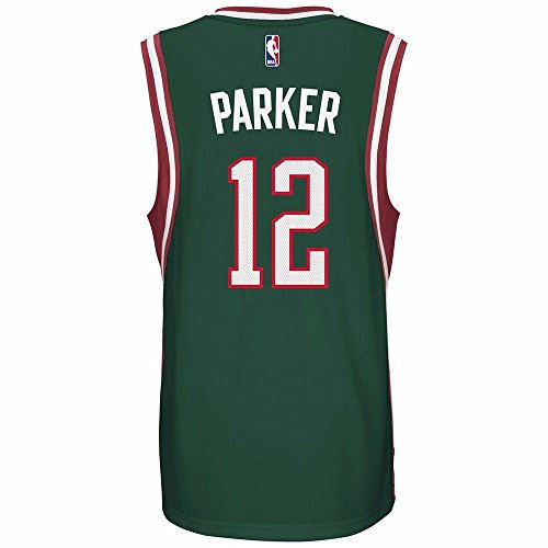 Milwaukee Bucks Jabari Parker adidas Green Swingman Road Jersey (M)