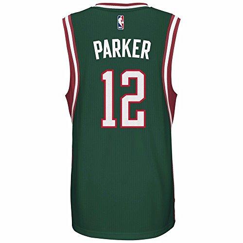 Milwaukee Bucks Jabari Parker adidas Green Swingman Road Jersey (L)