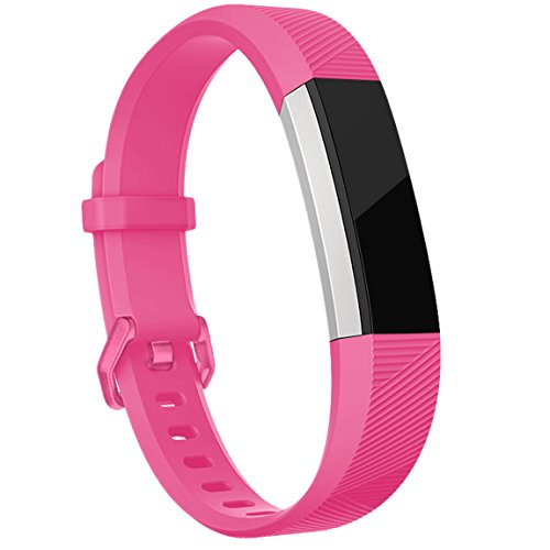 Maledan Bands for Fitbit Alta HR and Alta, Plum Teal Rose Pink, Small
