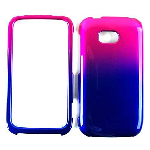 Cell Armor Snap Case for Nokia Lumia 822 - Retail Packaging - Two Tones, Pink/Blue (Nokia Lumia 822 Jelly Case)