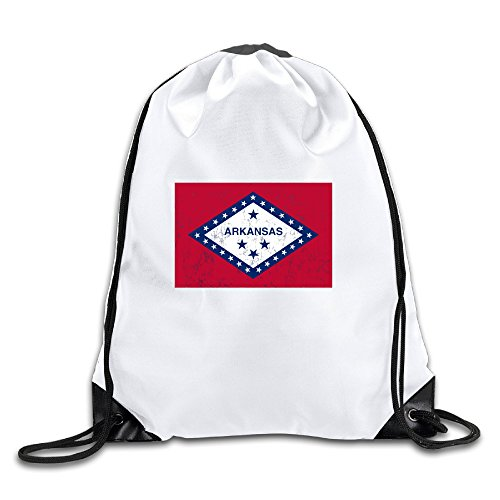 Arkansas State Flag Cool Drawstring Backpack Drawstring Bag
